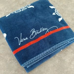 Vera Bradley Beach Towel Sea Turtle Red Blue White
